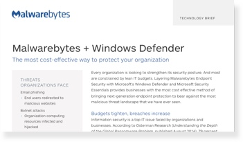Mejora de Microsoft Windows Defender y Security Essentials