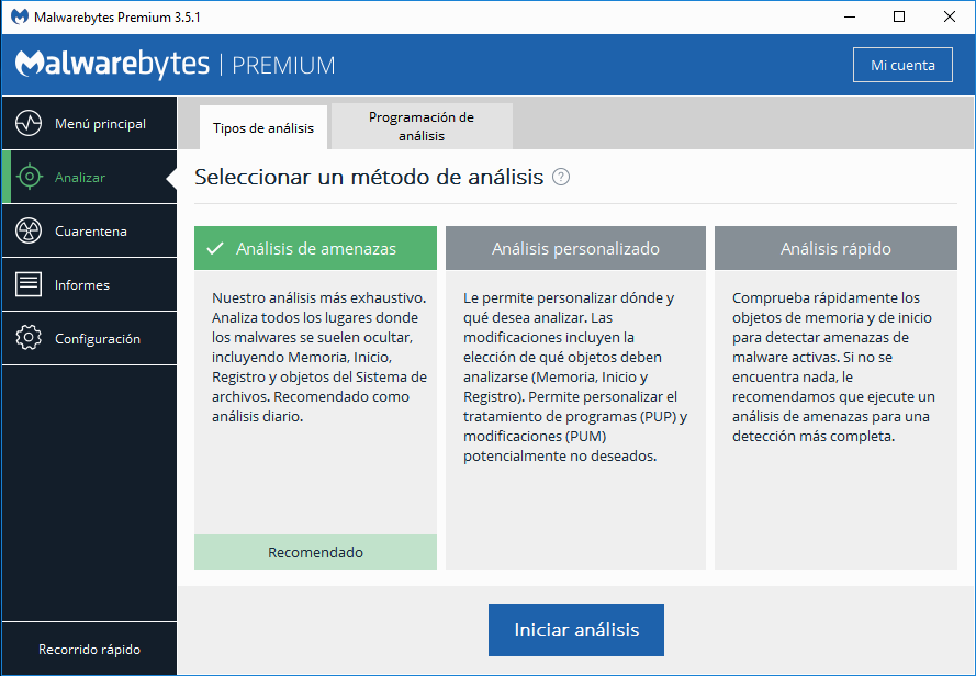 Malwarebytes Premium Settings screenshot